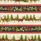 Festive Forest - Repeating Stripe Multi Yardage
