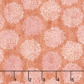 Sing Your Song - Floral Silhouettes Orange Yardage