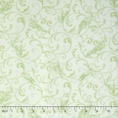 Bluebird Gathering - Bluebird Scroll Tonal Light Green Yardage