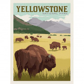 National Parks - Yellowstone Poster Panel