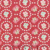 Granny Chic - Curtains Red Yardage
