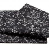Festive Batiks - Black Snowflake 2 Yard Cut