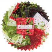 Poinsettia & Pine Charm Pack