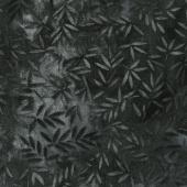 "Wilmington Essentials - Mottled Leaves Black 108"" Wide Backing"