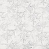 Artisan Batiks - Twilight Snowfall Pine Holiday Winter Metallic Yardage