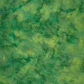 Panache Batiks - Leaf Dew Drop Dark Green Yardage