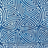 Tonga Batiks - Indigo Dreams Tribal Storm Yardage