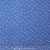 Little One Flannel Too ! - Random Dots Blue Yardage
