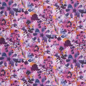 Bloom Bloom Butterfly - Wild Meadow Orchid Yardage