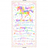 Animals - Unicorn Life Lesson White Panel