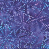 Artisan Batiks - Natural Formations 3 Ocean Pinwheels Purple Yardage