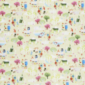 Kindred Spirits: Anne of Green Gables - Town Light Green Yardage