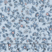 Calista - Flowers Sky Pearlized Yardage