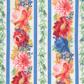 Garden Charm - Repeating Stripe Multi Yardage