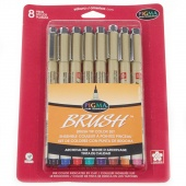 Pigma Micron Pen Brush 8 Color Set