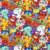 Cats - Stacked Cats Multi Yardage