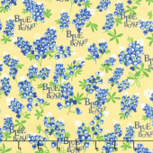 Bluebonnet Patch - Bluebonnet Yellow Yardage