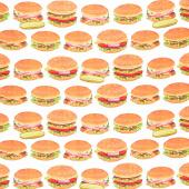 Chow Time - Hamburgers White Yardage