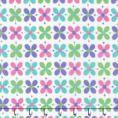 Flower Sacks - Flower Power White Yardage