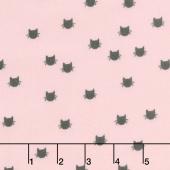 Designer Flannel - Meow Dot Pink Yardage