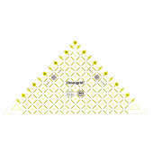 "Omnigrid 6"" Half Square Triangle Ruler"