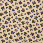 Arabella - Tiny Violets Tan Yardage