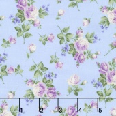 Afternoon in the Attic - Heirloom Floral Lavender Flannel Yardage