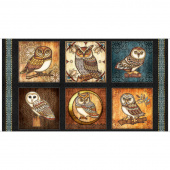 Where the Wise Things Are - Owl Picture Patches Black Panel