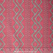 Downton Abbey - The Lady Rose Collection Argyle Pink Yardage