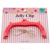 """JELLY CLIP 7"""" HOT PINK"""
