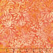 A Shore Thing Batiks - Packed Petals Coral Yardage