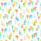 Glow - Trees Rainbow Yardage
