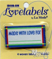Made With Love For Iron-On Lovelabels