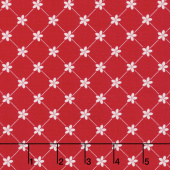 Vintage Adventure - Trellis Red Yardage