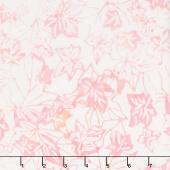 Tonga Batiks - Poppy Fallen Leaves Pink Yardage