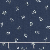 Abigail Blue - Flower Sprigs Navy Yardage