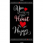 Novelty - You Make My Heart Happy Black Panel