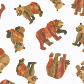Beary Happy - Celebrating 50 Colorful Years with Brown Bear! Beary Many Bears Brown Yardage