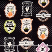 Eek Boo Shriek - Shriek Badge Black Yardage