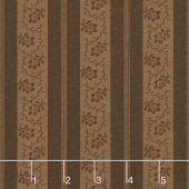 Spice It Up - Stripe Dark Brown Yardage