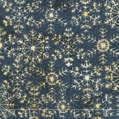 Oh Deer Batiks - Large Snowflake Storm Yardage