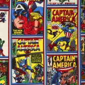 Marvel Comics III - Captain America Comic Strip Print Design Yardage