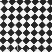 Fright Night - Harlequin Black and White Yardage