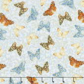 Field of Dreams - Butterfly Garden Light Blue Yardage