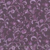 Lilacs in Bloom - Vine Scroll Plum Yardage