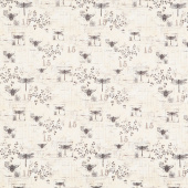 Harlequin Poppies - Garden Toile Cream Yardage