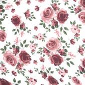 Embrace - Double Gauze Roses Rosewater Yardage