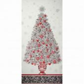 Winter's Grandeur 4 - Winter Colorstory Tree Winter Metallic Panel