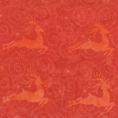 Alpine Jingle Batiks - Deer Cherry Yardage