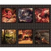 Dragons - Small Dragon Multi Digitally Printed Panel